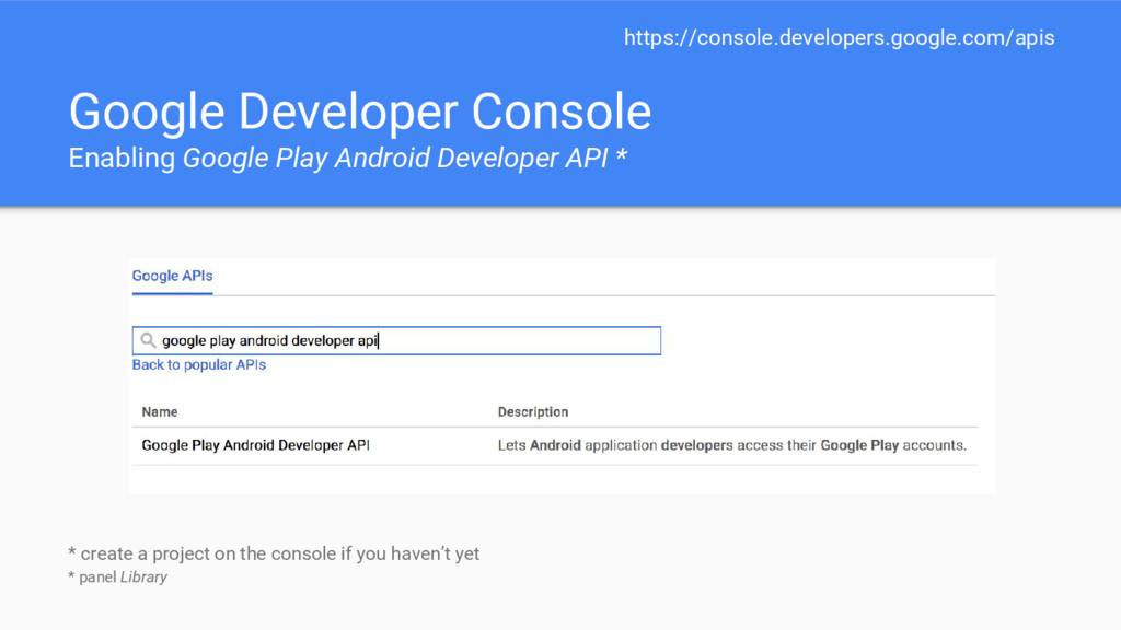 Google Developer Console Enabling Google Play A...