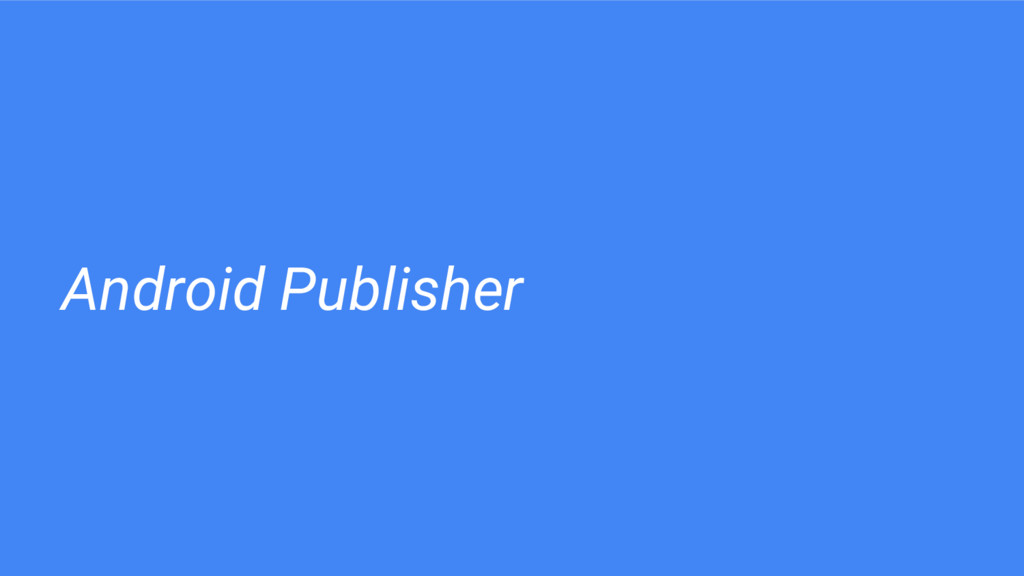 Android Publisher