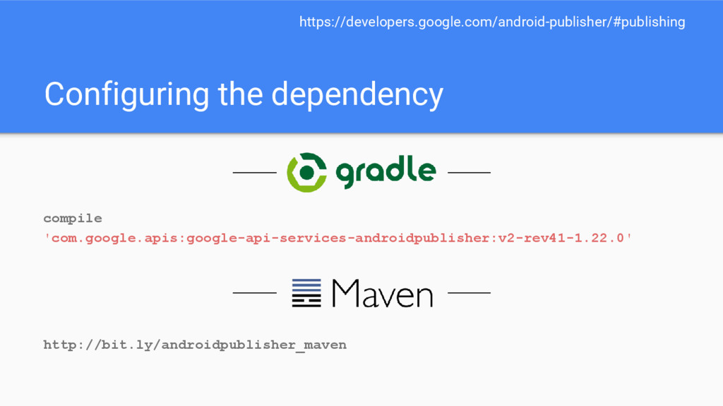 Configuring the dependency compile 'com.google....