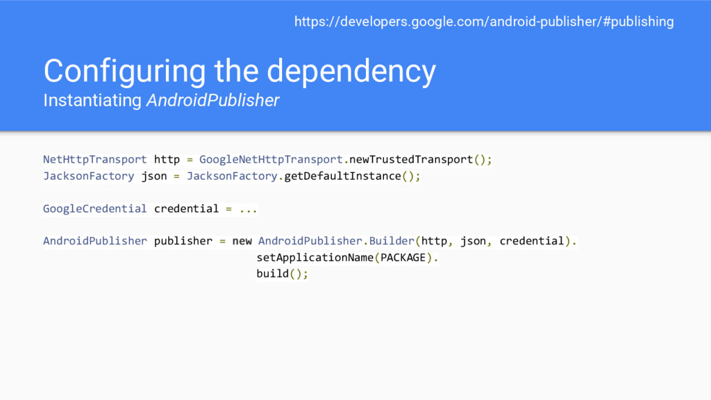 Configuring the dependency Instantiating Androi...