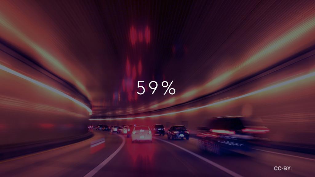 5 9 % CC-BY: