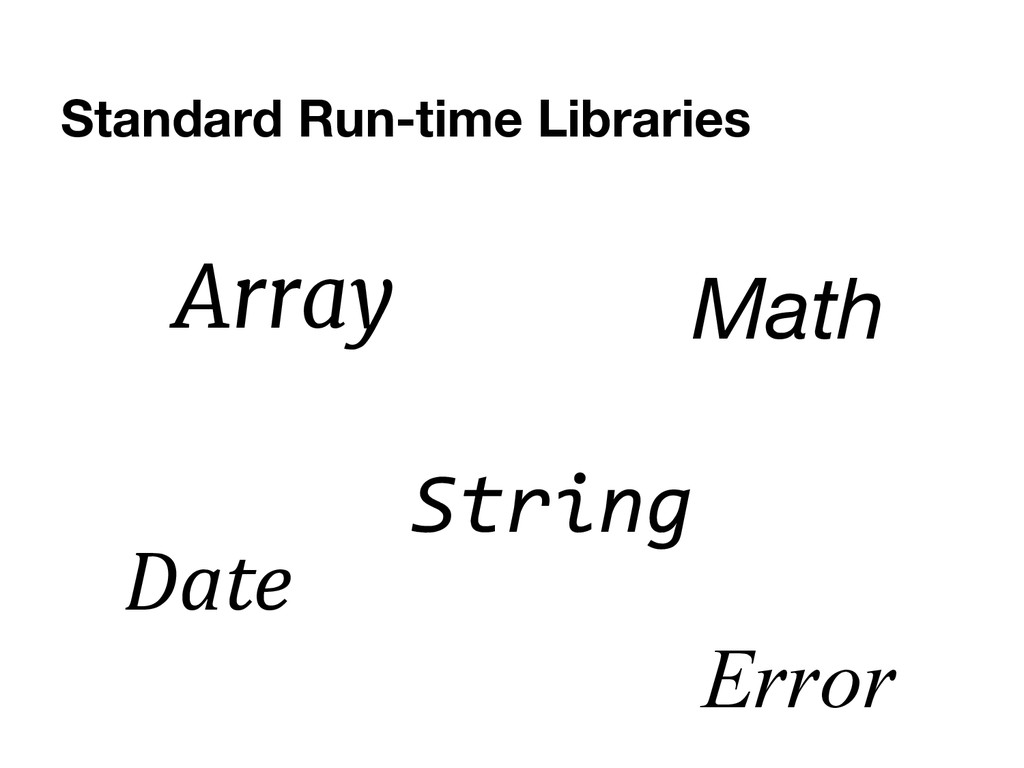 Standard Run-time Libraries Array Date String M...