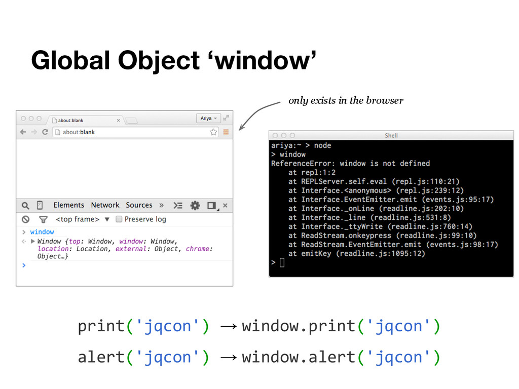 Global Object 'window' print('jqcon') → window....