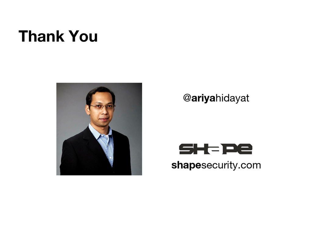 shapesecurity.com @ariyahidayat Thank You