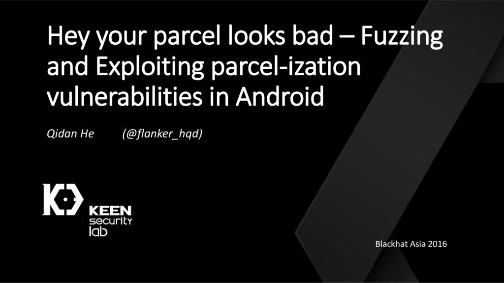 Hey your parcel looks bad – Fuzzing and Exploit...