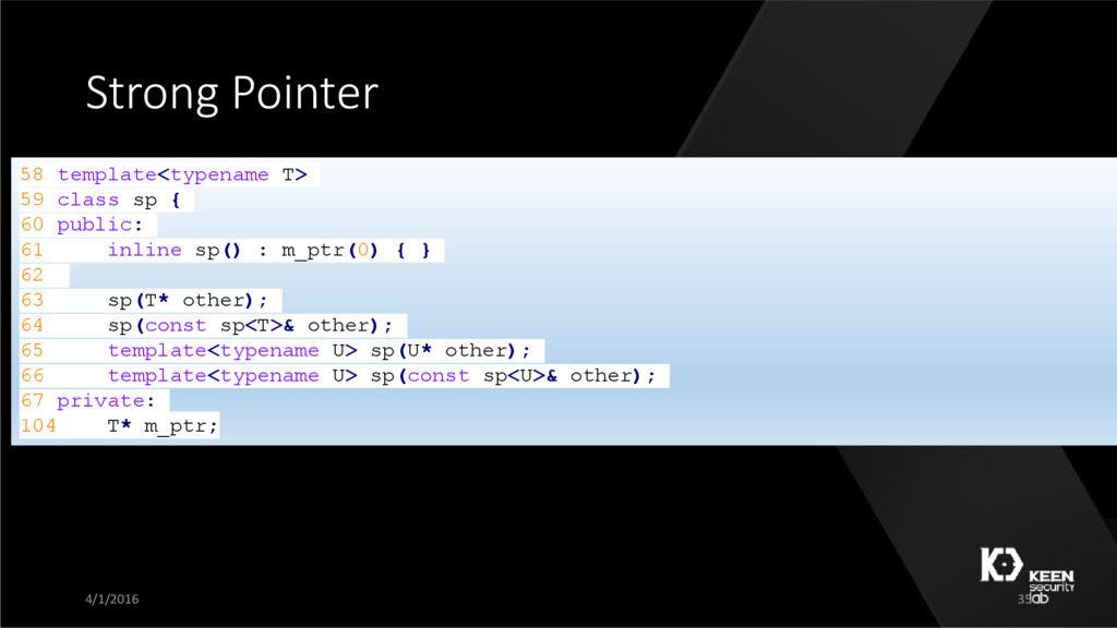 Strong Pointer 58 template<typename T> 59 class...