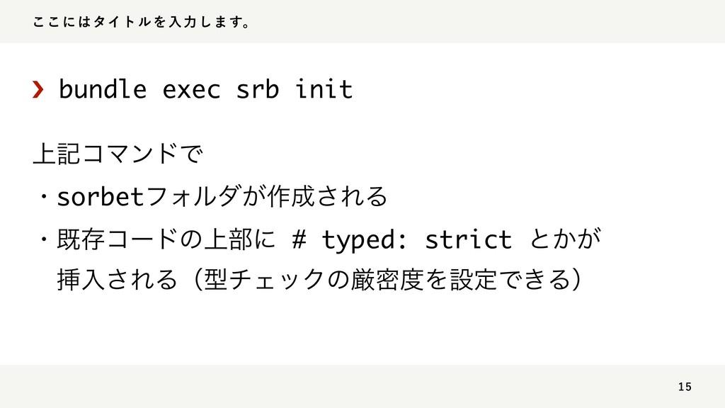 ͜͜ʹλΠτϧΛೖྗ͠·͢ɻ › bundle exec srb init ্هί...