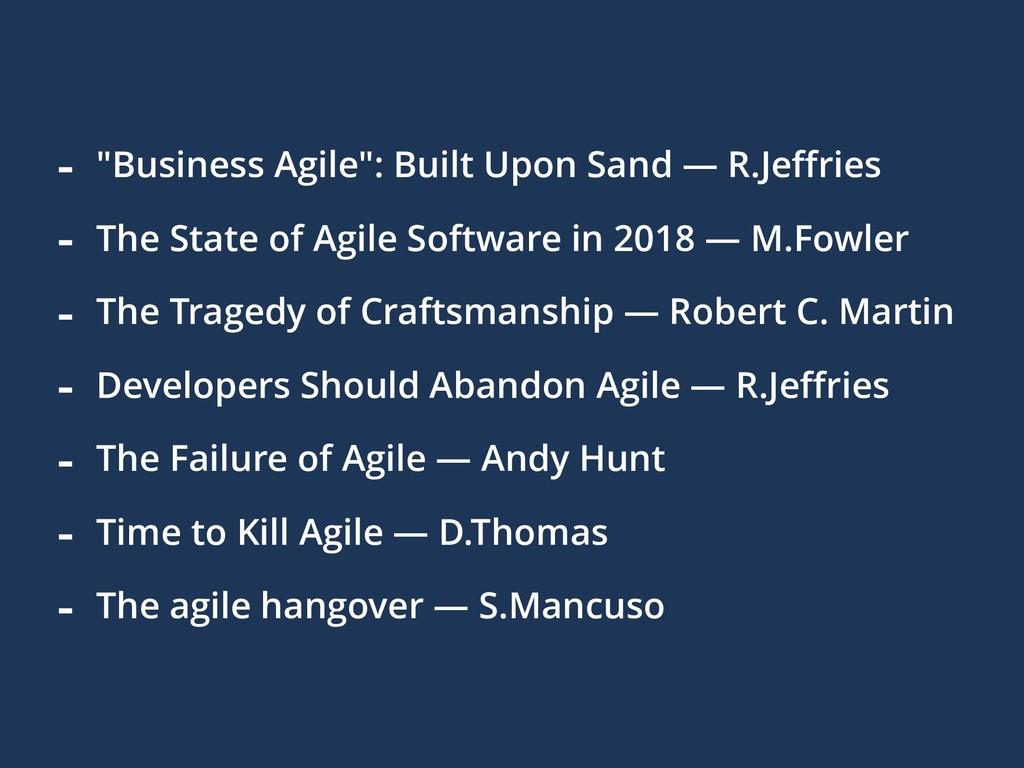 "- ""Business Agile"": Built Upon Sand — R.Jeffries..."