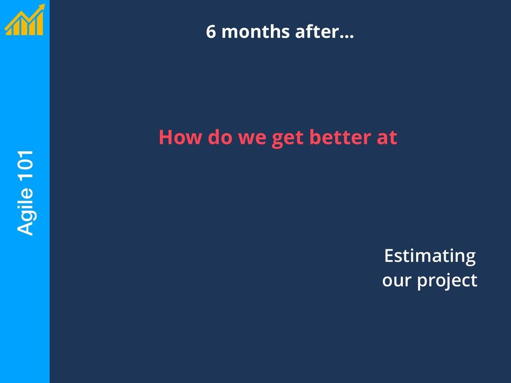 Agile 101 6 months after… Estimating our projec...
