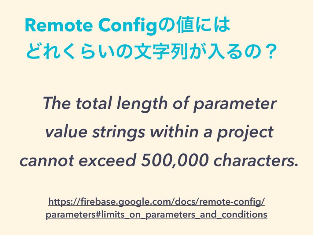 Remote Configͷʹ ͲΕ͘Β͍ͷจྻ͕ೖΔͷʁ The total leng...