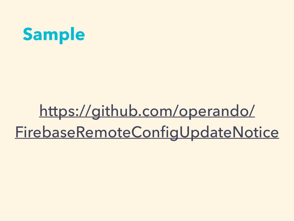 Sample https://github.com/operando/ FirebaseRem...