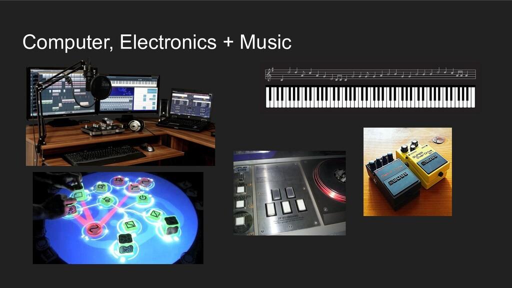 Computer, Electronics + Music