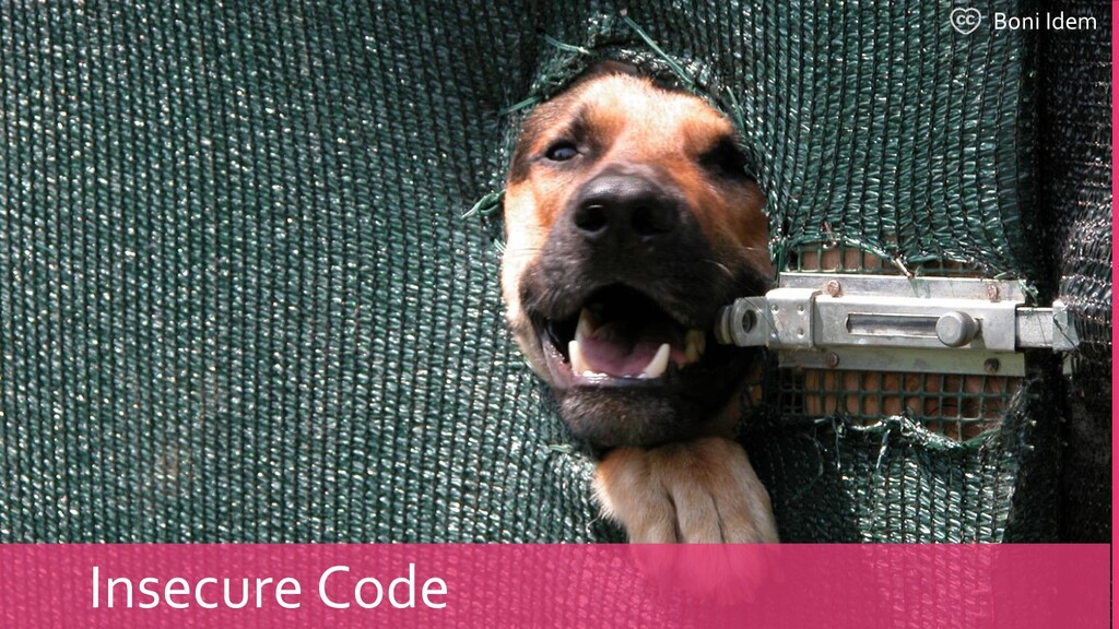 Boni Idem Insecure Code