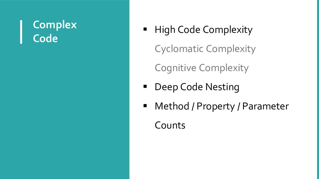 Complex Code  High Code Complexity Cyclomatic ...