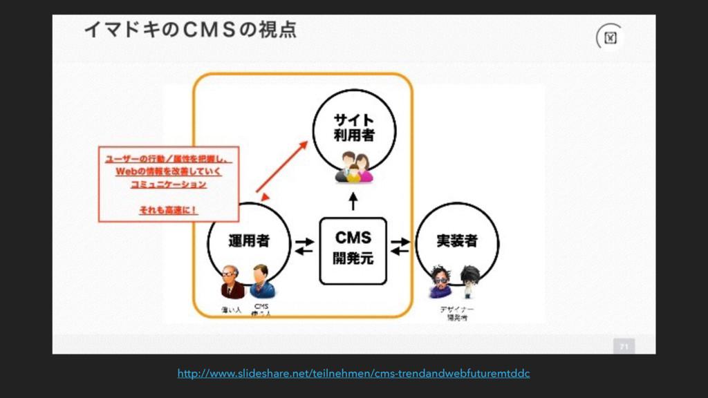 http://www.slideshare.net/teilnehmen/cms-trenda...