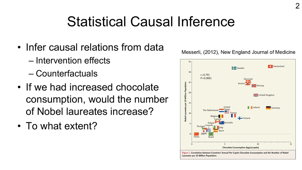 Statistical Causal Inference • Infer causal rel...