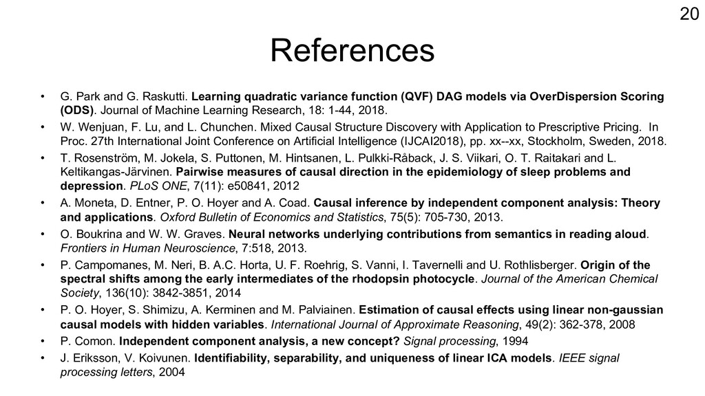 References • G. Park and G. Raskutti. Learning ...