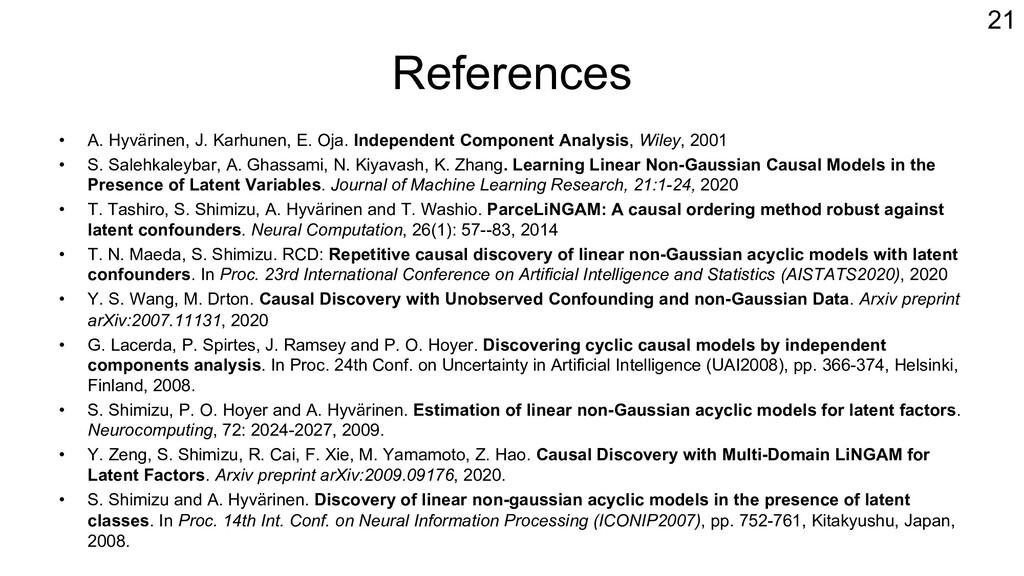References • A. Hyvärinen, J. Karhunen, E. Oja....