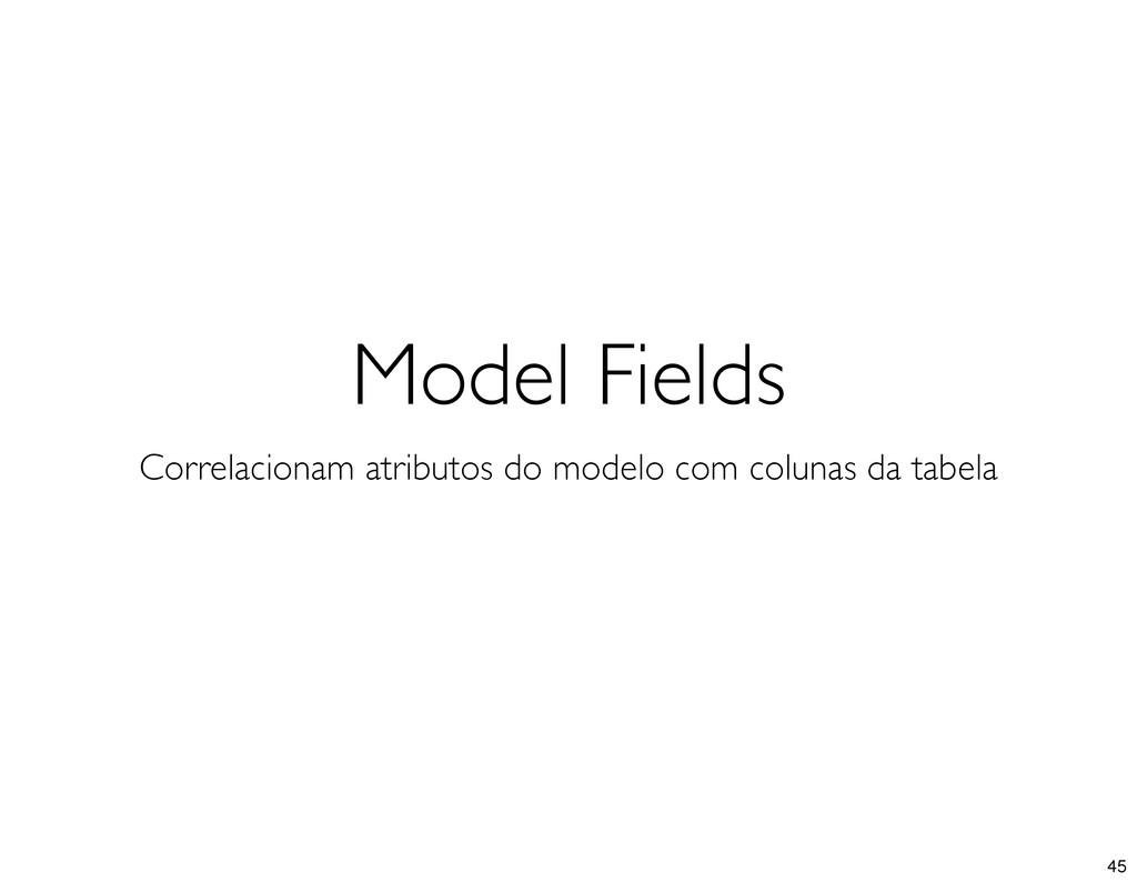 Model Fields Correlacionam atributos do modelo ...