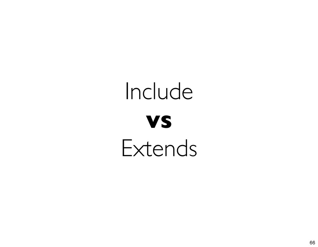 Include vs Extends 66