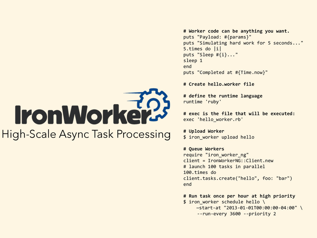 High-Scale Async Task Processing   # Work...