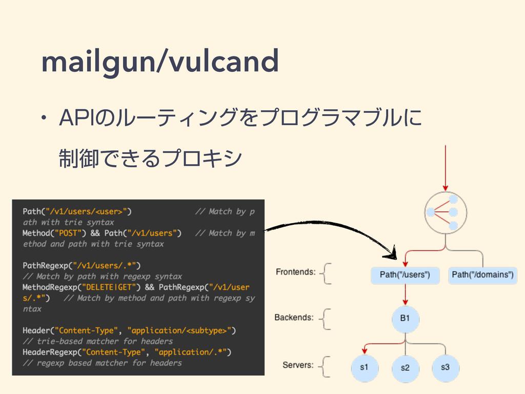 "mailgun/vulcand w ""1*ͷϧʔςΟϯάΛϓϩάϥϚϒϧʹ ੍ޚͰ͖ΔϓϩΩγ"