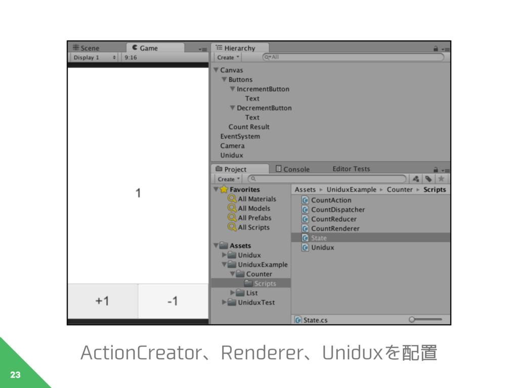 23 ActionCreator、Renderer、Uniduxを配置