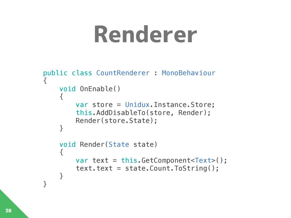 3FOEFSFS 28 public class CountRenderer : MonoBe...
