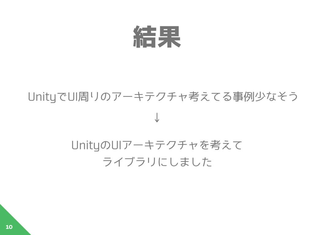 ݁Ռ 10 UnityでUI周りのアーキテクチャ考えてる事例少なそう ↓ UnityのUIアー...