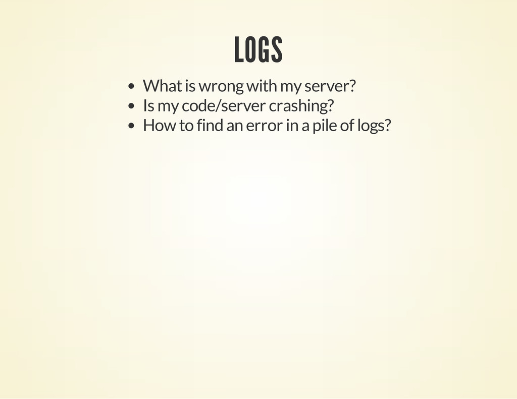LOGS What is wrong with my server? Is my code/s...