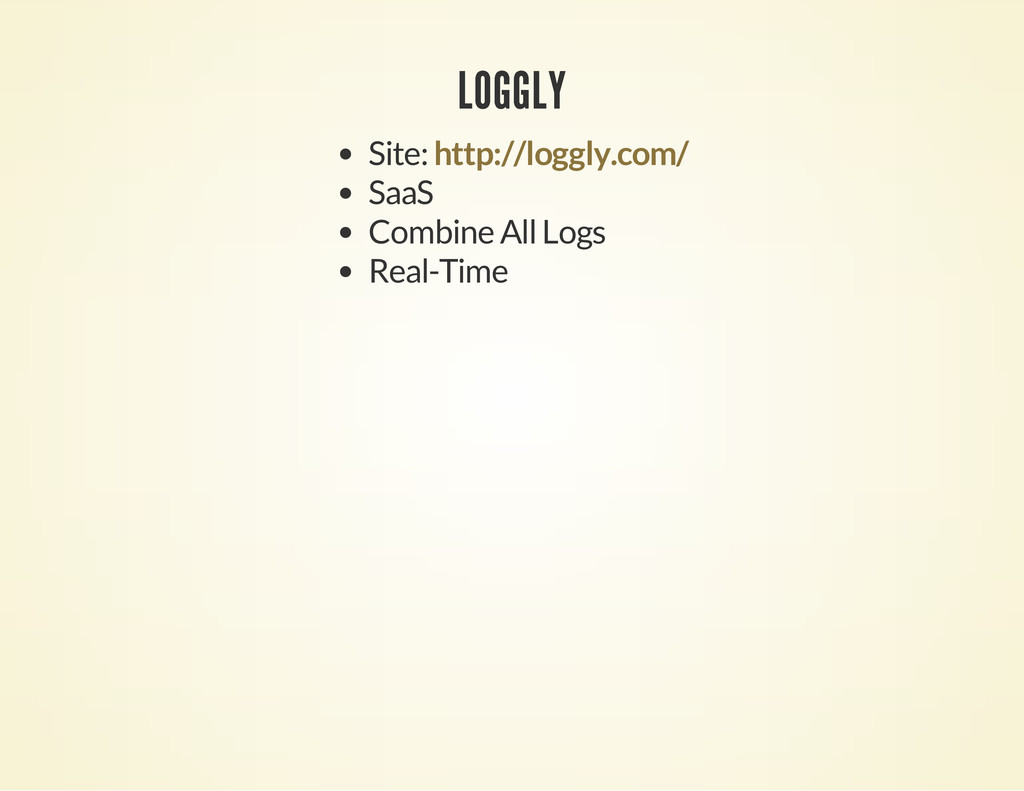 LOGGLY Site: SaaS Combine All Logs Real-Time ht...