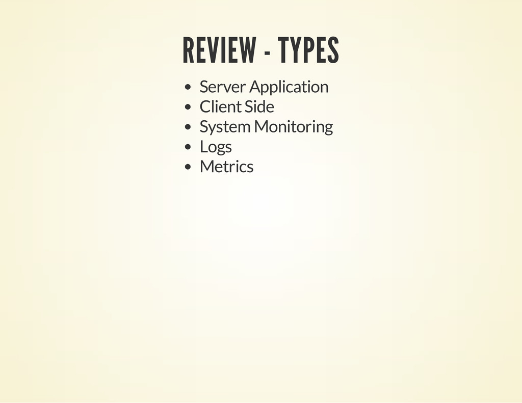 REVIEW - TYPES Server Application Client Side S...