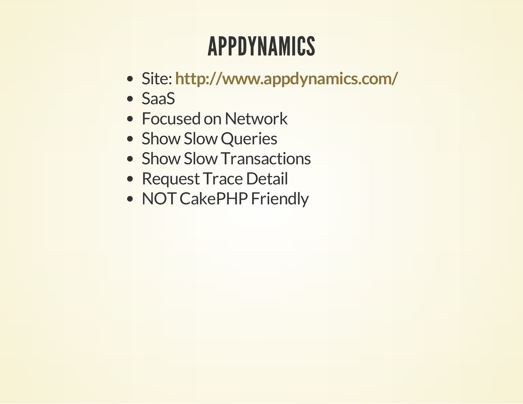 APPDYNAMICS Site: SaaS Focused on Network Show ...