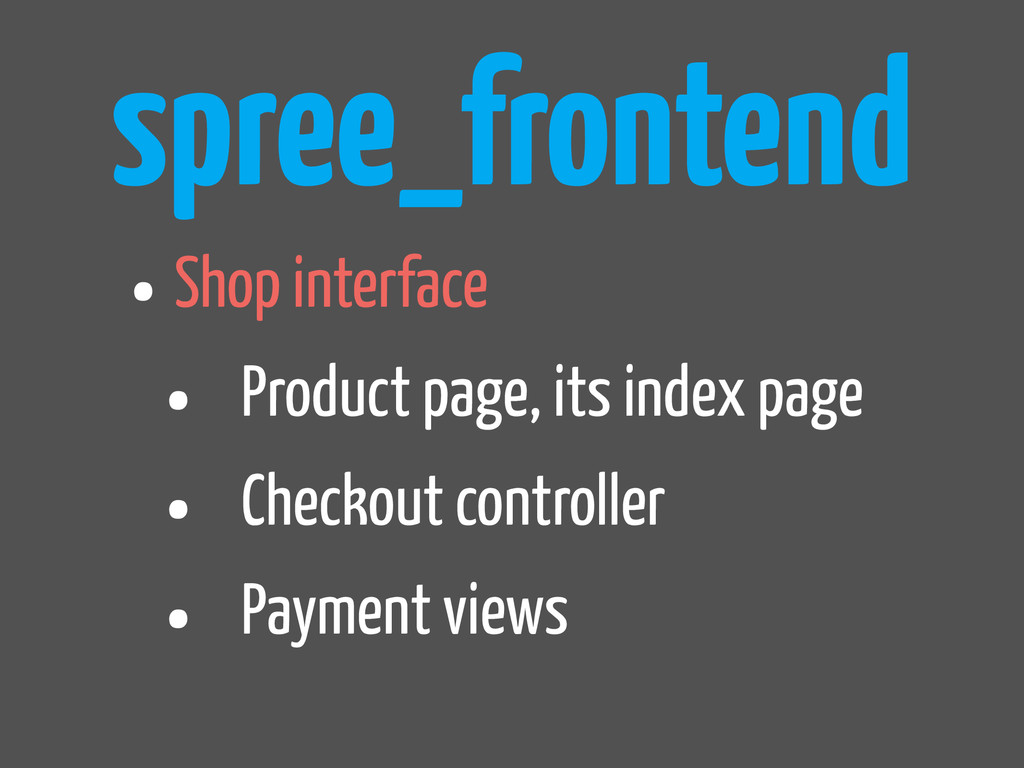 spree_frontend •Shop interface • Product page, ...
