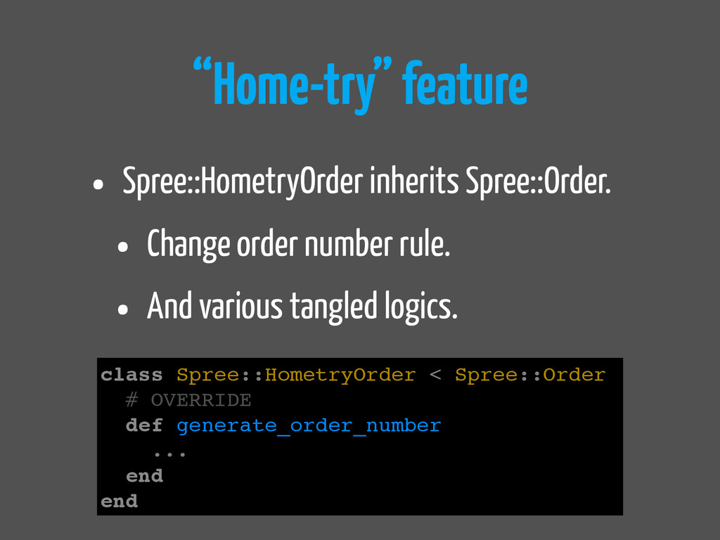 """Home-try"" feature • Spree::HometryOrder inheri..."