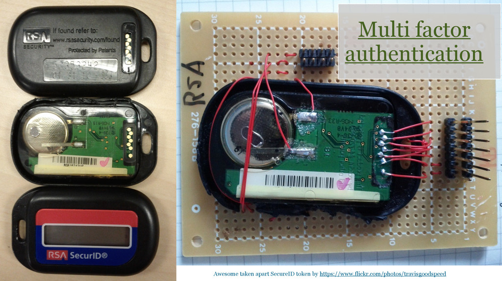 Multi factor authentication Awesome taken apart...