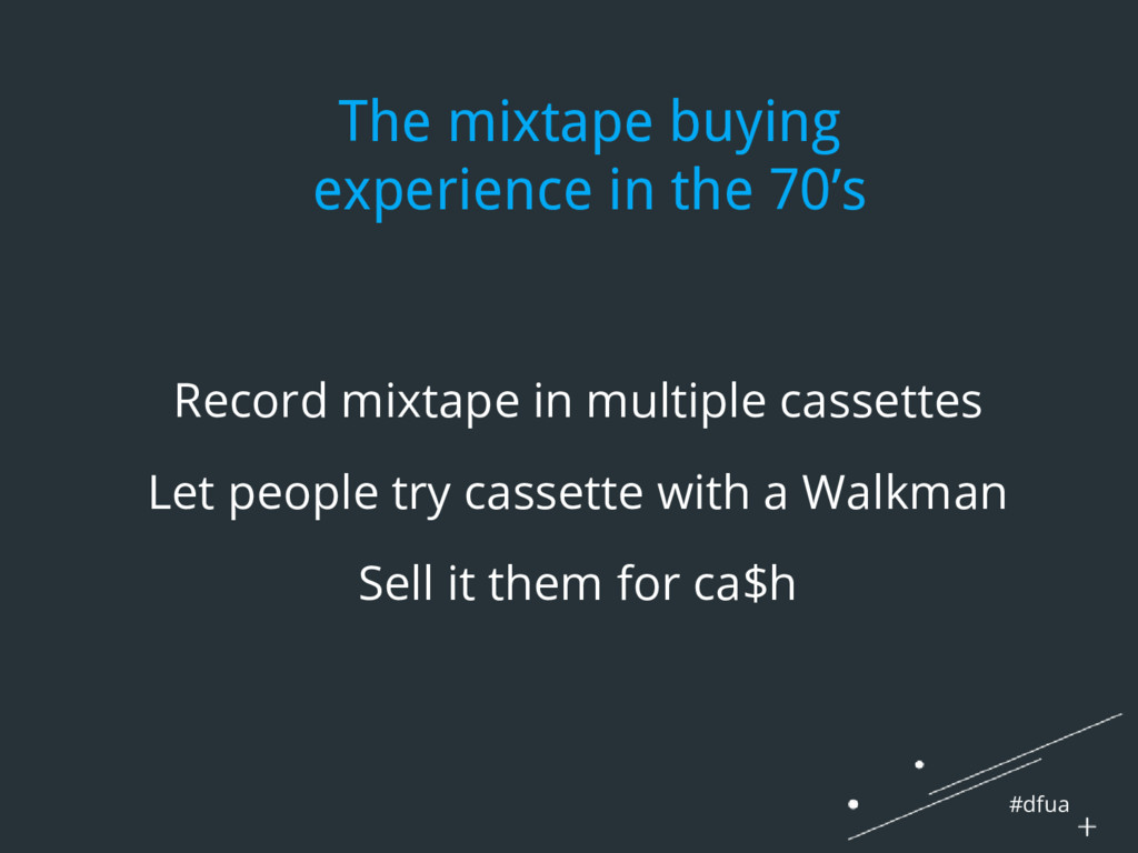 #dfua The mixtape buying experience in the 70's...
