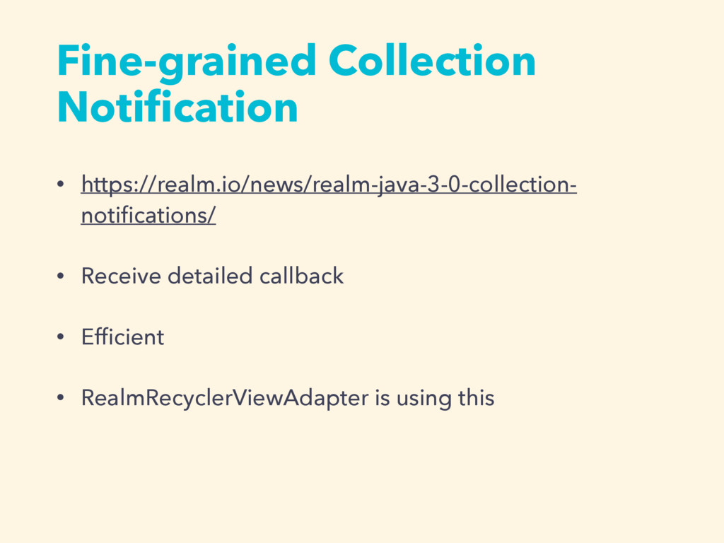 Fine-grained Collection Notification • https://r...