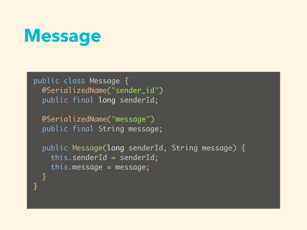 Message public class Message { @SerializedName(...