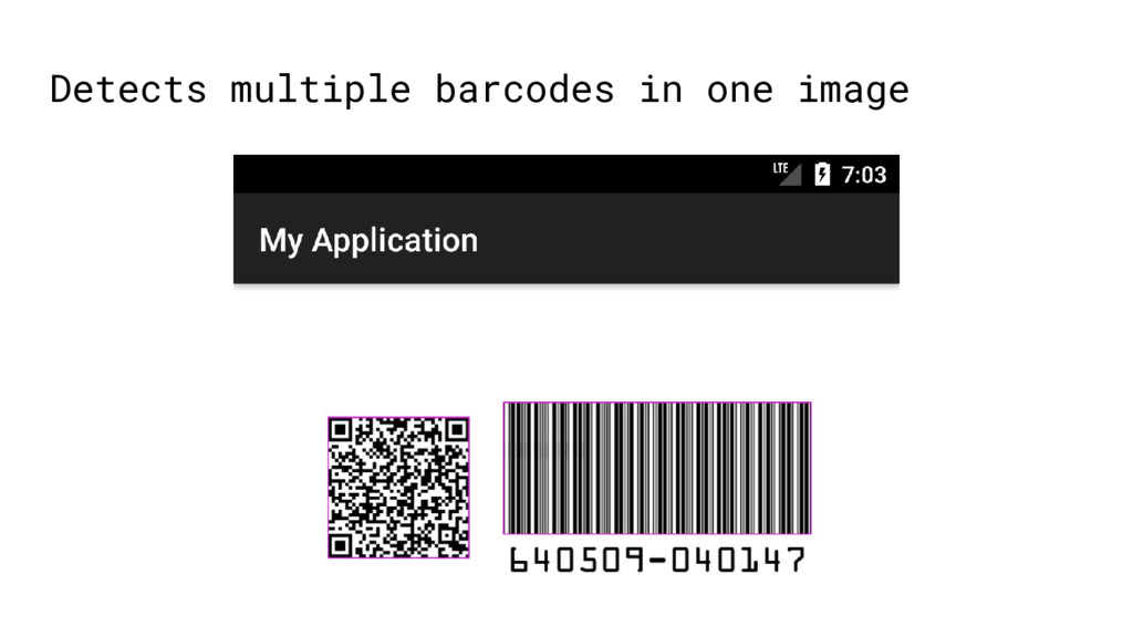 Detects multiple barcodes in one image
