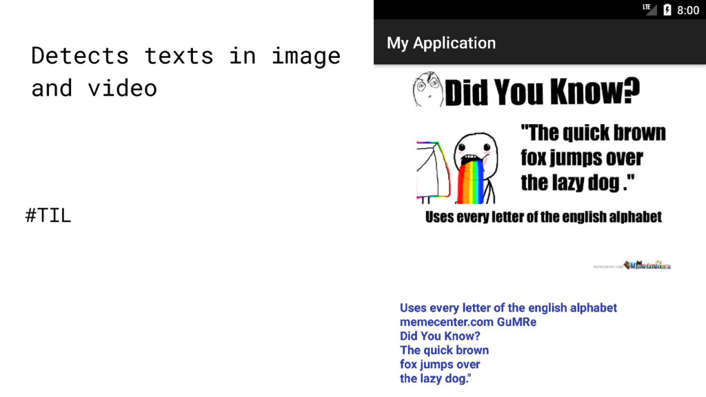 Detects texts in image and video #TIL