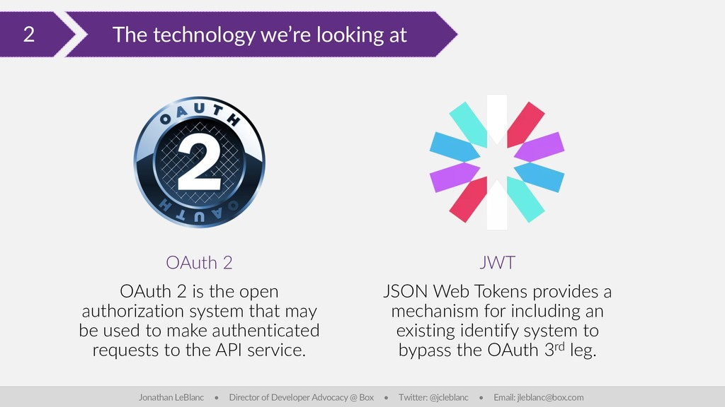 2 The technology we're looking at Jonathan LeBl...