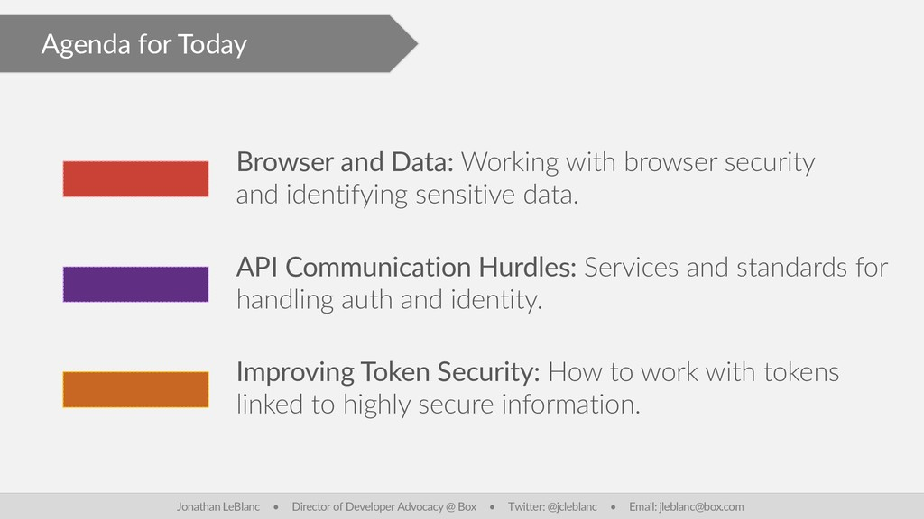 Agenda for Today Browser and Data: Working with...
