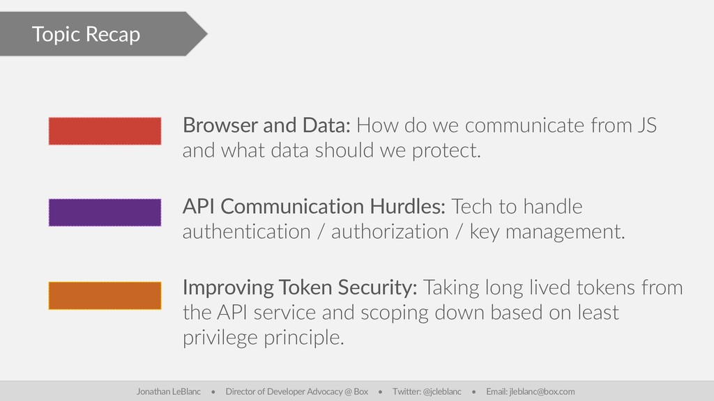 Topic Recap Browser and Data: How do we communi...