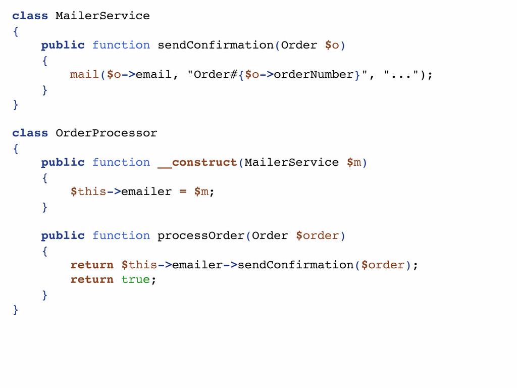 class MailerService { public function sendConfi...