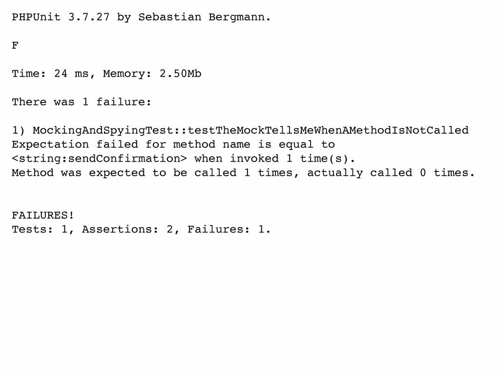 PHPUnit 3.7.27 by Sebastian Bergmann. F Time: 2...