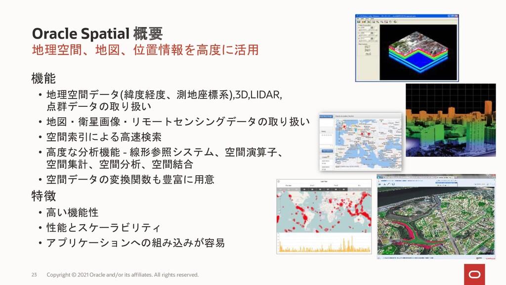 地理空間、地図、位置情報を高度に活用 Oracle Spatial 概要 Copyright ...
