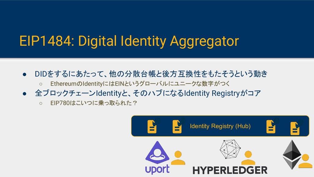 EIP1484: Digital Identity Aggregator ● DIDをするにあ...