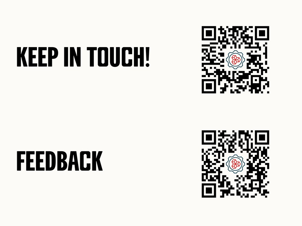 Keep in toUch! FEEDback
