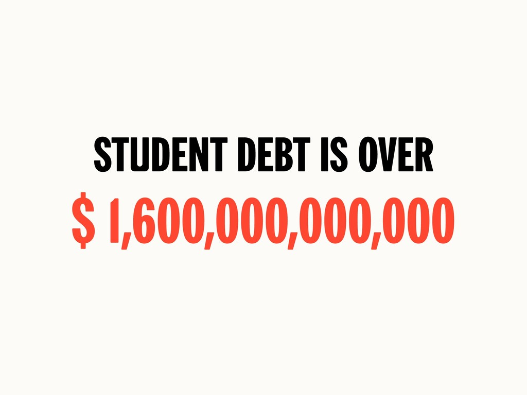 Student Debt is Over $ 1,600,000,000,000